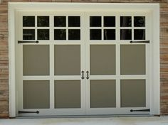 Another example of the two toned garage door. This one also has updated grills on the windows. A perfect combo!