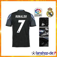 379e160af Neu Real Madrid RONALDO 7 Third Trikot Schwarz 2016 2017 Fan Shop Kaufen
