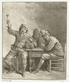 Leendert Brasser. Three men drinking. 1772 Best Honey, Comics, Illustration, Drinking, Art, Art Background, Beverage, Drink, Kunst