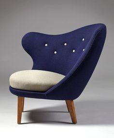 Le Président de « Pouce » conçu à la fin 1940 's par le designer suédois Arne Norell. Photo : modernity.se