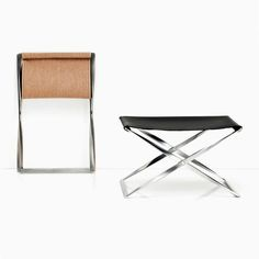 PK91™ | Poul Kjaerholm | Fritz Hansen | The PK91™ folding stool epitomizes Poul Kjærholm's ongoing adaption of historical furniture through a signature arsenal of design expressions. The source of inspiration for the PK91 is an ancient Egyptian folding stool that dates back to circa 1500 BC. The PK91 is part of the permanent collection at the Röhsska Museum in Gothenborg, in Sweden.