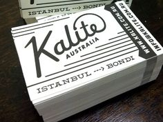 Kalite Business Cards | Riley Cran