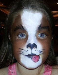 Cute puppy dog face paint #DogFace