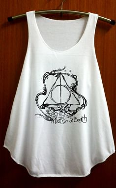 Deathly Hallows Shirt Harry Potter Clothing Top Women Tank Top Women Shirt White Shirt Tunic Top Singlet Vest Women Top Sleeveless Size S M on Etsy, $14.99