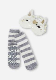 Unicorn Eye Mask & Sock Set