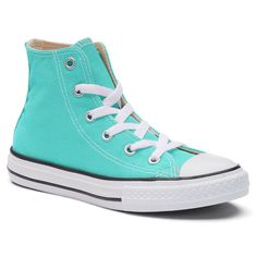 Kids' Converse Chuck Taylor All Star High Top Sneakers, Size: 13, Turquoise/Blue (Turq/Aqua), Durable