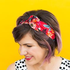 Twist or knot it! This easy to make wire headband doesn't require sewing. by Sarah Hearts