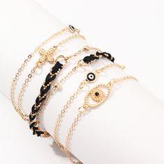 Jewelry multi-element chain bracelet alloy eye flower bracelet handmade bracelet NHNZ190757