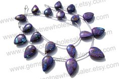 Purple Copper Turquoise Smooth Arrow Quality by GemstoneWholesaler