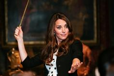 And released her inner Hermione Granger. | 27 Times Kate Middleton Proved She Was The Most Flawless Human Of 2013