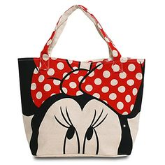 Canvas Minnie Mouse Tote  Disney Bag  I want this ohhh so badly!