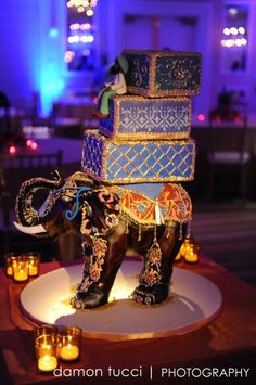 Indian Weddings Inspirations. Elephant wedding cake. Repinned by #indianweddingsmag indianweddingsmag.com