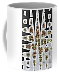 Sea Glass Carriage Bolts And Rock Abstract Coffee Mug featuring the photograph Sea Glass Carrige Bolts And Rock Abstract, by Tom Janca