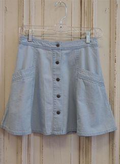 Free People - Meadow Wash Skirt Highwaist Circle