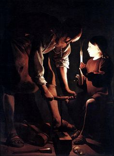 Painting: The Power of Light and Dark St. Joseph the Carpenter by Georges de La Tour- One of my favorite paintings. Joseph the Carpenter by Georges de La Tour- One of my favorite paintings. St Jerome, Baroque Painting, Baroque Art, Caravaggio, St Joseph, Jean Antoine Watteau, Principles Of Design, Holy Mary, Elements Of Art