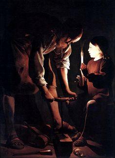 St. Joseph the Carpenter by Georges de La Tour- One of my favorite paintings.