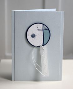 handmade confirmation card ... clean and simple ... mod grapchic look ... great die cut for focal element ...