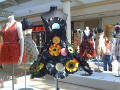 melted vinyl into dress - Repurposed Fashion   Trashion   Refashion   Upcycled Fashion
