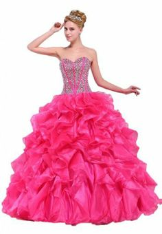 MerMaid Women's Prom Gown Color Fuchsia Size 6