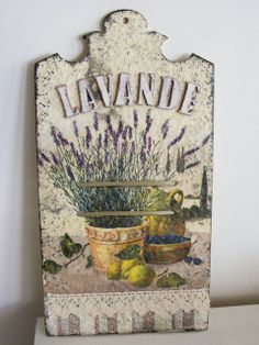 decoupage -----  cutting board------------- deska do krojenia -------  deseczka-lawenda.jpg (480×640)