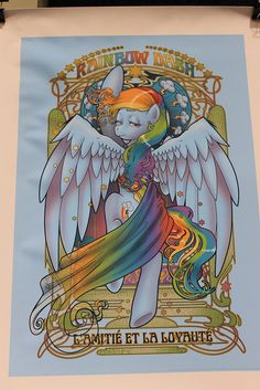 art nouveau Rainbow dash-WonderCon 2012 by Loren Javier, via Flickr