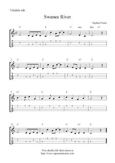 "✓""Swanee River"" Ukulele Sheet Music - Free Printable"