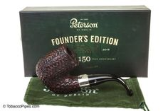 Peterson 150th Anniversary Founder's Edition Tobacco Pipe - Rustic