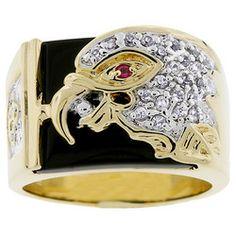 Cubic Zirconia Eagle Men's Ring