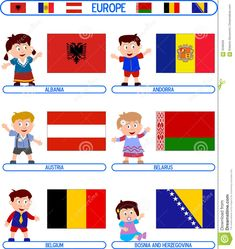 Illustration of artistic - 5046056 E Albania, Flags Europe, 2. Stock, Learn English Grammar, Montessori Materials, Children Images, Royalty Free Photos, Paper Dolls, Kids Learning