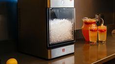 Unlike regular ice, nugget is easily chewable and absorbs flavor in addition to keeping your drinks nice & chilled. The Opal nugget icemaker is a sleek, countertop machine that will make nuggets with … Sonic Ice Maker, Nugget Ice Maker, Kitchen Must Haves, Kitchen Ideas, Clever Gadgets, Champagne Taste, Butler Pantry, Gadget Gifts, Home Pictures