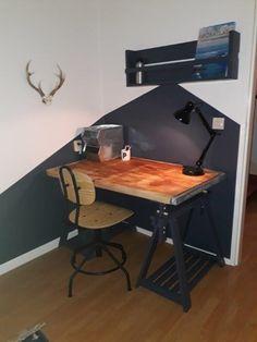 Drafting Desk, Rooms, Furniture, Home Decor, Desk, Bedrooms, Decoration Home, Coins, Room Decor