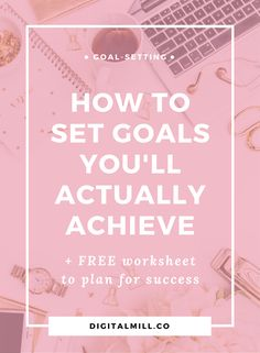 How to set goals in 2017 for your online business and blog that you'll actually achieve. Free goal-setting worksheet included. Read and get it now >>