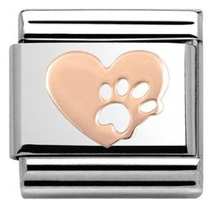 Nomination Rose Gold Heart With Paw Print Charm   Argento.co.uk £11