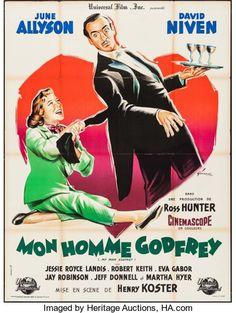 Movie Posters:Comedy, My Man Godfrey (Universal International, 1958). Fr...
