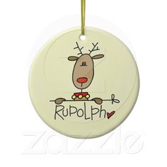 Rudolph Reindeer Tshirts and GIfts Christmas Ornaments Christmas Tree And Santa, Rudolph Christmas, Christmas Rock, Christmas Signs, Christmas Tree Decorations, Christmas Hallway, Christmas Holidays, Christmas Crafts, Christmas Ornaments
