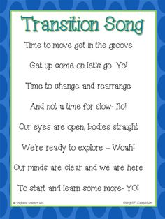 Song for Transitions in the classroom. Like this idea to get them ready to line up. Sing it before, line up and hopefully have little discipline issues in the hallway. Could use for any transition though! Kindergarten Songs, Preschool Songs, Kids Songs, Kindergarten Classroom, Preschool Activities, Line Up Songs, Circle Time Songs, Behavior Management, Classroom Management