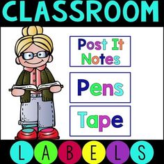 FREE!! These labels are great for organizing in your classroom.  They measure 3 inches wide by 1.5 inches tall. There is a file where you can create your own labels!