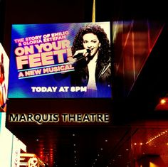 Broadway's newest sensation! Seeing this show tonight. Emilio and Gloria Estefan's story.