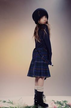 Lots of tartan plaid in the new Wildfox Kids fall/winter 2014 collection