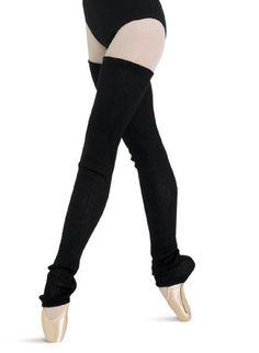 Bloch's 2x2 rib thigh high leg warmer. Knitted in 100% acrylic cashmere like yarn. Light pink, burgundy, black.