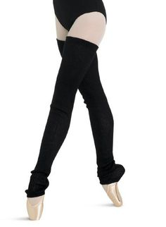 Bloch's 2x2 rib thigh high leg warmer. Knitted in 100% acrylic cashmere like yarn. Light pink, burgundy, black.