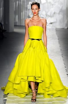 An acid Jason Wu gown is fit for a next-generation princess