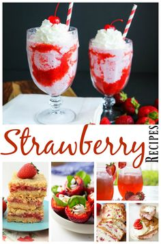 There is nothing better on a hot day then fresh strawberries. You'll love these luscious, scrumptious fresh strawberry recipes.