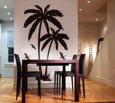 Palm Tree Wall Art two coconut palm tree nursery decal beach3rdaveshore on etsy