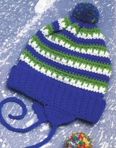 Free Crochet Cool Stripes Hat Pattern Ganchillo Para Bebés 04084c3422b