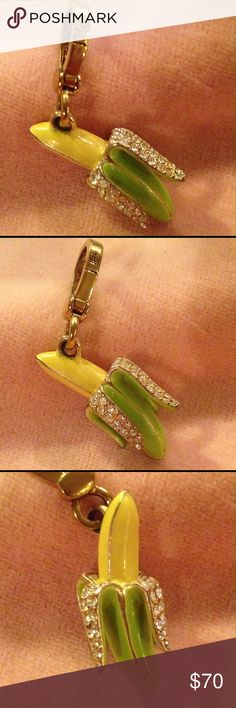 JUICY COUTURE  Pave Banana Charm. JUICY COUTURE  2008 Pave Banana Charm. Excellent condition. No box. Recently sold on eBay as shown in picture four. Reasonable offers are welcome. Juicy Couture Jewelry