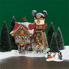 "Department 56: Products - ""Mickey's North Pole Holiday House"" - View Lighted Buildings. Retired north pole"