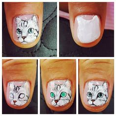 この画像は「**猫好き必見!**ネコ目メイクの次は#ネコネイルが可愛い♡」のまとめの82枚目の画像です。