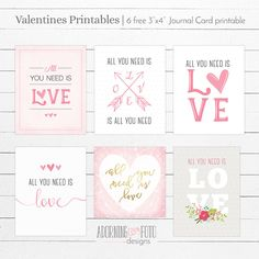 Free Printable Valentines Journal Cards from Adorning Fotos {newsletter subscription required}