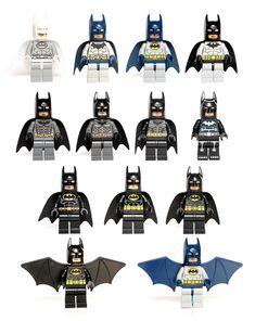 LEGO Batman suits (2006-2103)